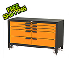 Swivel Storage Solutions 10-Drawer 60-Inch Rolling Workbench