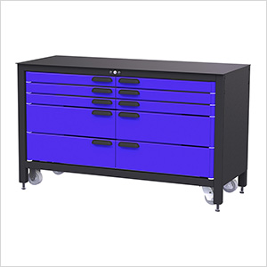 10-Drawer 60-Inch Rolling Workbench