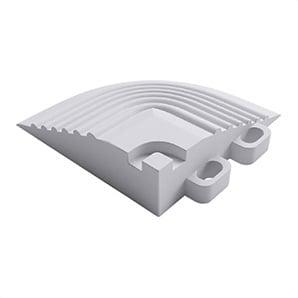 Arctic White Garage Floor Tile Corner