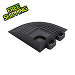 Swisstrax Jet Black Garage Floor Tile Corner