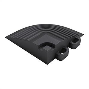 Jet Black Garage Floor Tile Corner