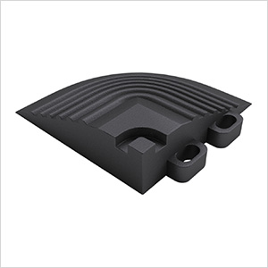 Jet Black Garage Floor Tile Corner