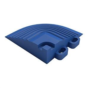 Royal Blue Garage Floor Tile Corner