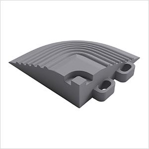 Pearl Grey Garage Floor Tile Corner