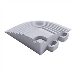 Pearl Silver Garage Floor Tile Corner