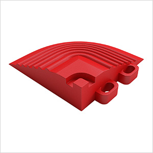 Racing Red Garage Floor Tile Corner