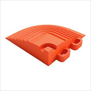 Tropical Orange Garage Floor Tile Corner