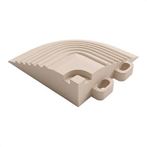 Ivory Garage Floor Tile Corner