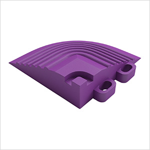 Cosmic Purple Garage Floor Tile Corner