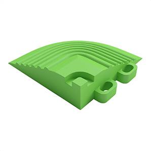 Techno Green Garage Floor Tile Corner
