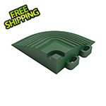 Swisstrax Turf Green Garage Floor Tile Corner