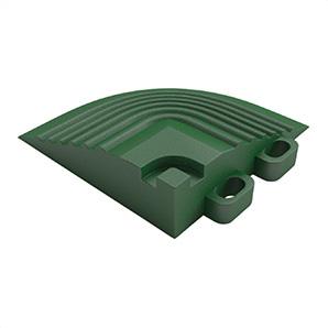 Turf Green Garage Floor Tile Corner