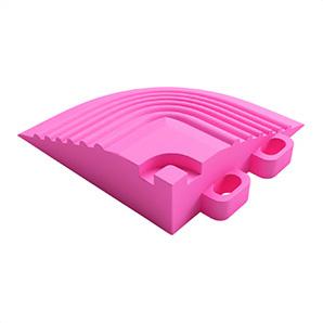 Carnival Pink Garage Floor Tile Corner