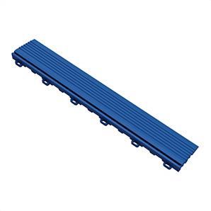 Royal Blue Garage Floor Looped Edge