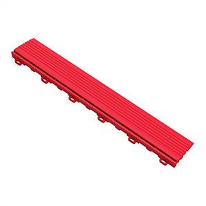 Racing Red Garage Floor Looped Edge