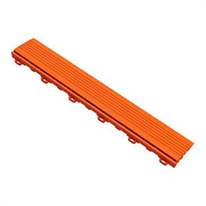 Tropical Orange Garage Floor Looped Edge