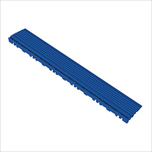 Royal Blue Garage Floor Pegged Edge