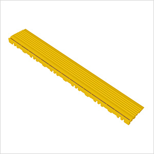 Citrus Yellow Garage Floor Pegged Edge