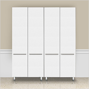 2-Piece Tall Cabinet Set in Starfire Pearl