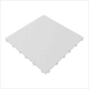 Arctic White Diamondtrax Garage Floor Tile (9-Pack)