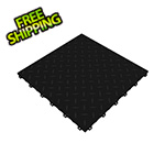 Swisstrax Jet Black Diamondtrax Garage Floor Tile (9-Pack)