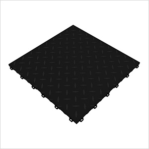 Jet Black Diamondtrax Garage Floor Tile (9-Pack)