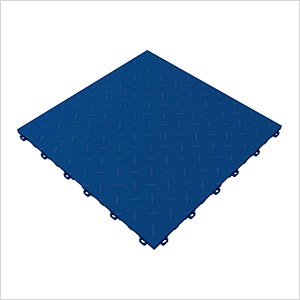 Royal Blue Diamondtrax Garage Floor Tile (9-Pack)