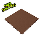 Swisstrax Chocolate Brown Diamondtrax Garage Floor Tile (9-Pack)