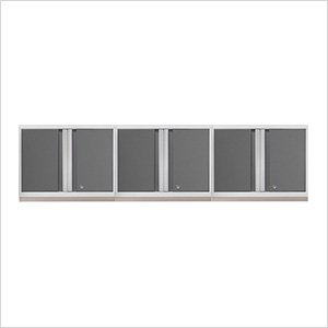 3 x PRO 3.0 Series White Wall Cabinets