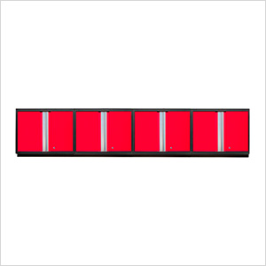 4 x PRO 3.0 Series Red Wall Cabinets