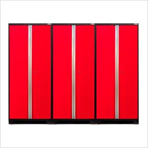 3 x PRO 3.0 Series Red Multi-Use Lockers