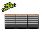 NewAge Garage Cabinets PRO 3.0 Grey 4-Piece Workbench Set with Bamboo Top
