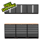 NewAge Products PRO 3.0 Grey 7-Piece Garage Storage Set with Bamboo Top