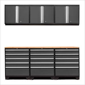 PRO 3.0 Grey 7-Piece Garage Storage Set with Bamboo Top