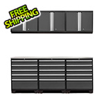 NewAge Products PRO 3.0 Grey 7-Piece Garage Storage Set with Stainless Steel Top