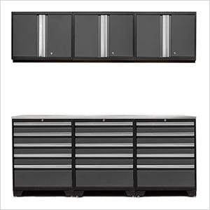 PRO 3.0 Grey 7-Piece Garage Storage Set with Stainless Steel Top