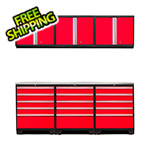 NewAge Products PRO 3.0 Red 7-Piece Garage Storage Set with Stainless Steel Top