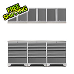NewAge Products PRO 3.0 White 7-Piece Garage Storage Set with Stainless Steel Top