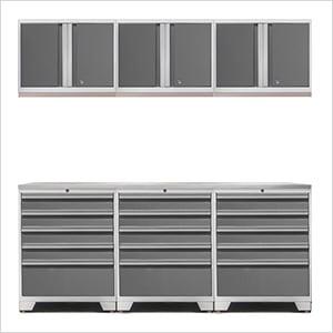 PRO 3.0 White 7-Piece Garage Storage Set with Stainless Steel Top