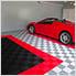 Jet Black Ribtrax Garage Floor Tile (9-Pack)