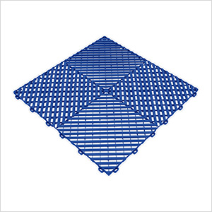 Royal Blue Ribtrax Garage Floor Tile (9-Pack)