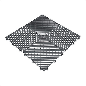 Slate Grey Ribtrax Garage Floor Tile (9-Pack)