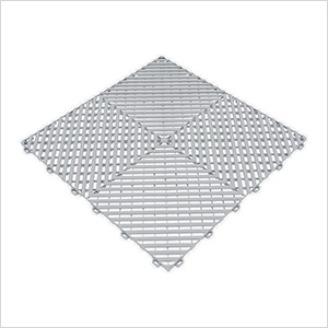 Pearl Silver Ribtrax Garage Floor Tile (9-Pack)