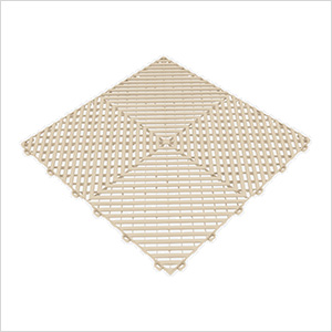 Ivory Ribtrax Garage Floor Tile (9-Pack)