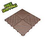Swisstrax Chocolate Brown Ribtrax Garage Floor Tile (9-Pack)