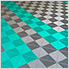 Teal Ribtrax Garage Floor Tile (9-Pack)