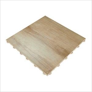 Light Maple Vinyltrax Garage Floor Tile (9-Pack)