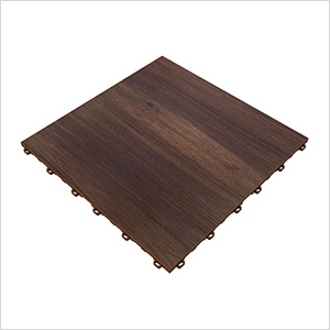 Dark Oak Vinyltrax Garage Floor Tile (9-Pack)