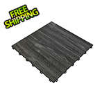 Swisstrax Black Oak Vinyltrax Garage Floor Tile (9-Pack)