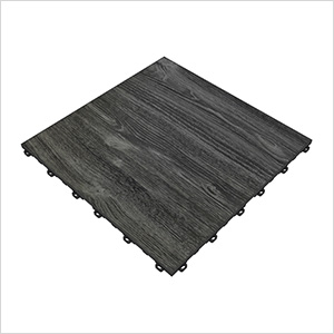 Black Oak Vinyltrax Garage Floor Tile (9-Pack)